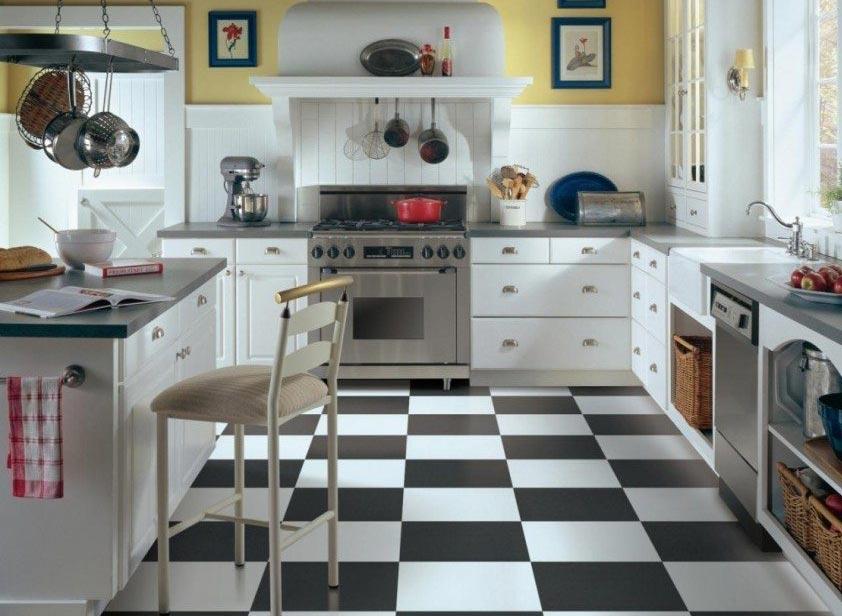 полы для кухни-варианты