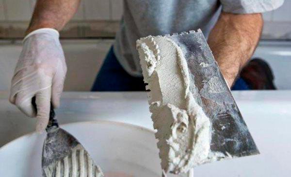 Санирующие штукатурки для ванной под плитку
