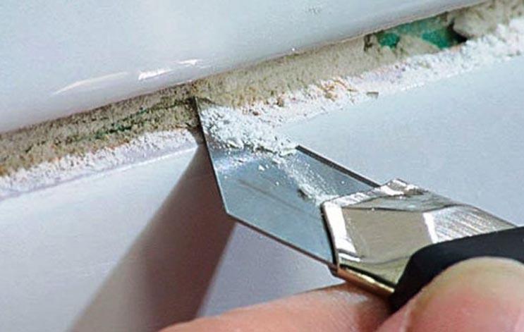 швы между плиткой в ванной-методы чистки