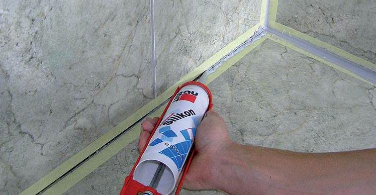 силиконовая затирка для плитки-нанесение