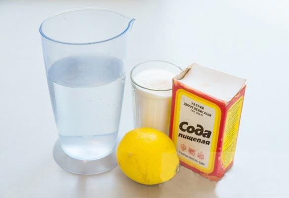 сода с лимонной кислотой и крахмалом для чистки плитки на кухне