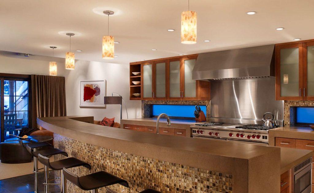 столовая зона мозаика на кухне