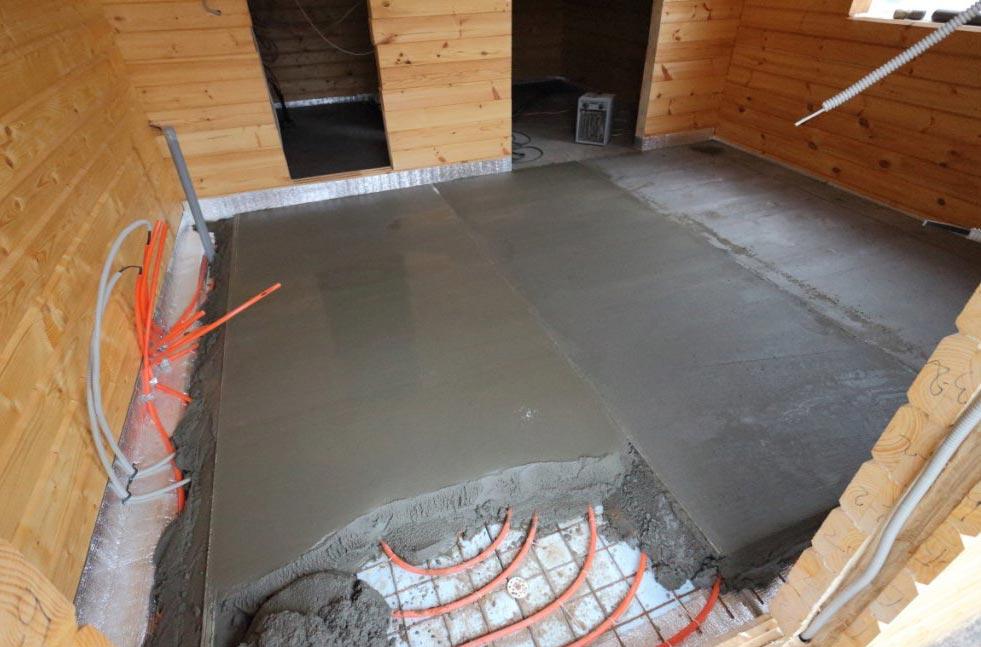 теплый пол в бане под плитку-рекомендации