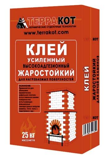 термостойкий клей для плитки-Терракот