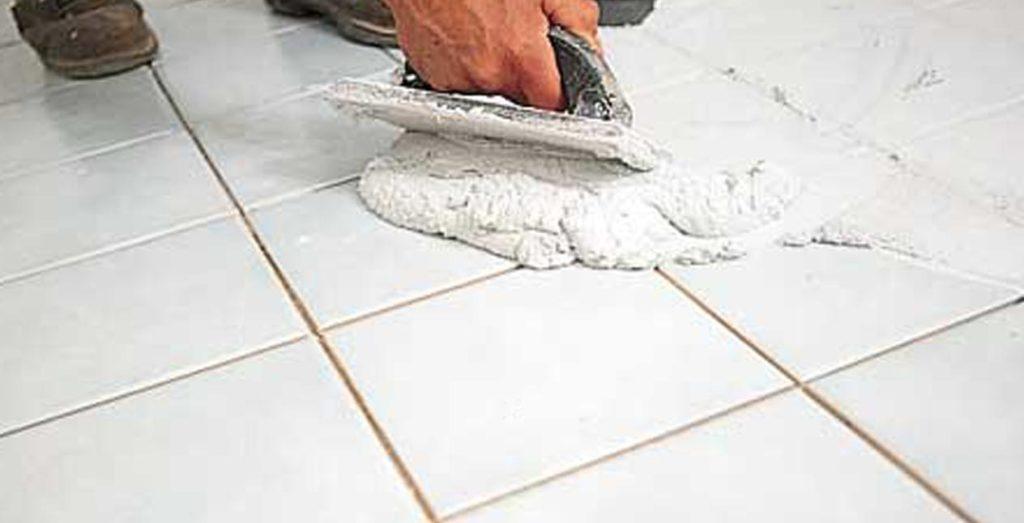 укладка плитки на пол в туалете-расчет затирки