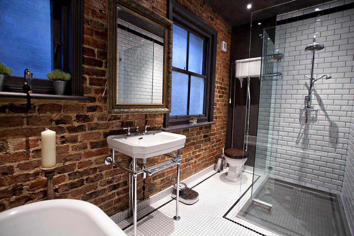 ванная комната стиль лофт