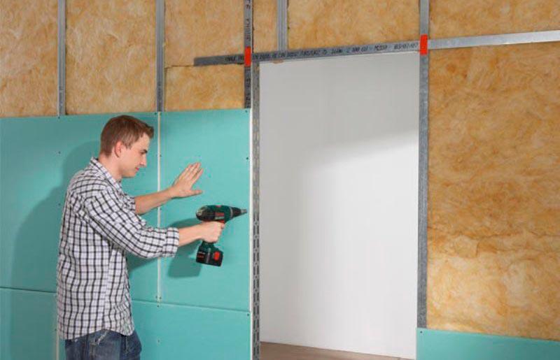 Замена листа гипсокартона в стене