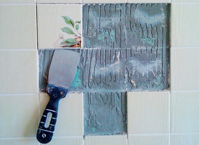 замена отдельных плиток на кухне-рекомендации и советы