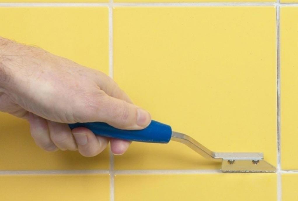 замена швов плитки на кухне
