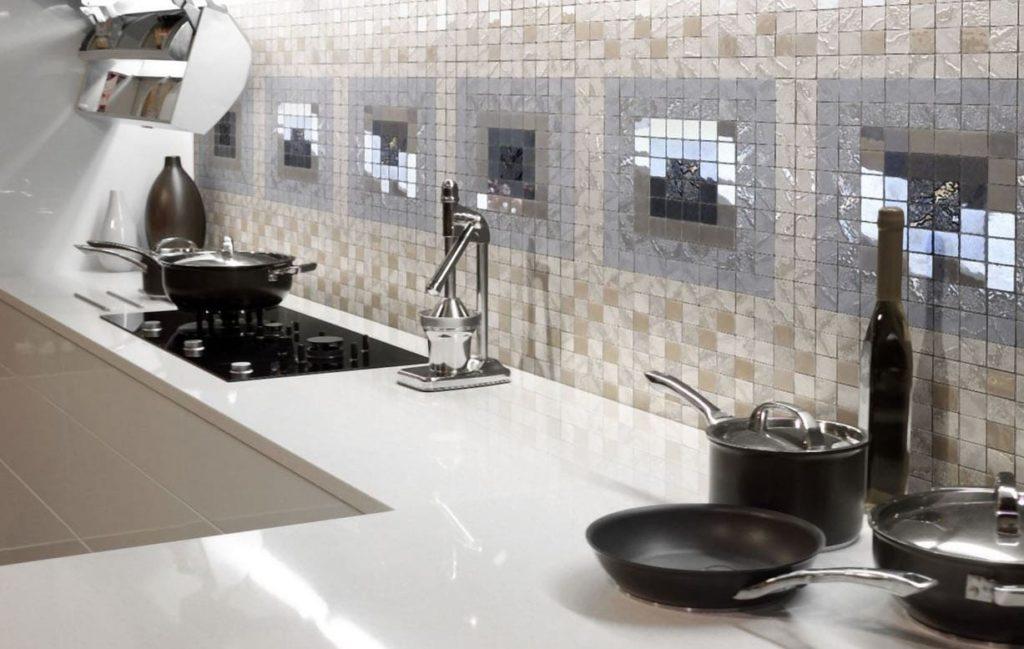 зеркальная плитка мозаика для кухни