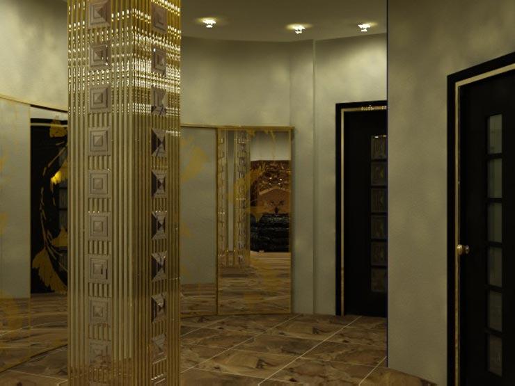 Декор колонны в интерьере