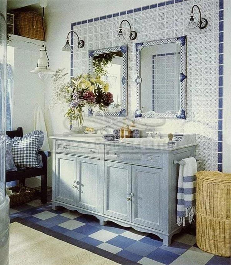 морской прованс в ванной