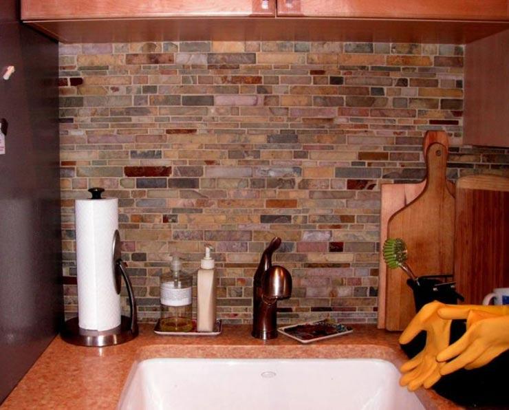 Отделка стен кухни плиткой