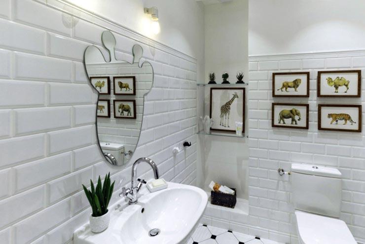 Плитка кабанчик в ванной комнате