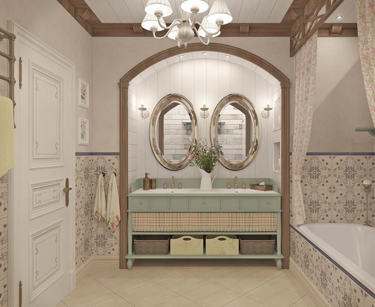 Прованс стиль в ванной