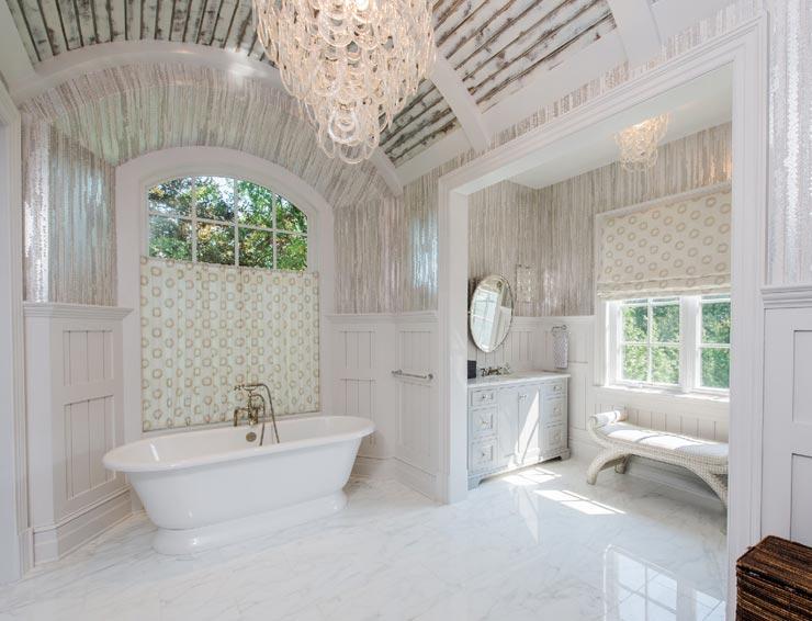 Прованс в интерьере ванной комнаты