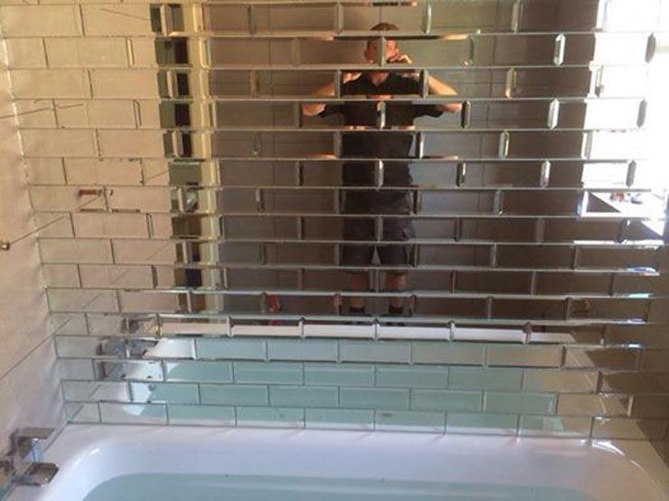 Зеркальная плитка прямоугольная