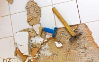 Как снять плитку со стены не повредив ее?