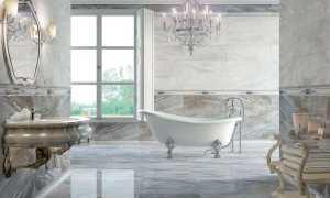 Характеристики и дизайн плитки под мрамор для ванной