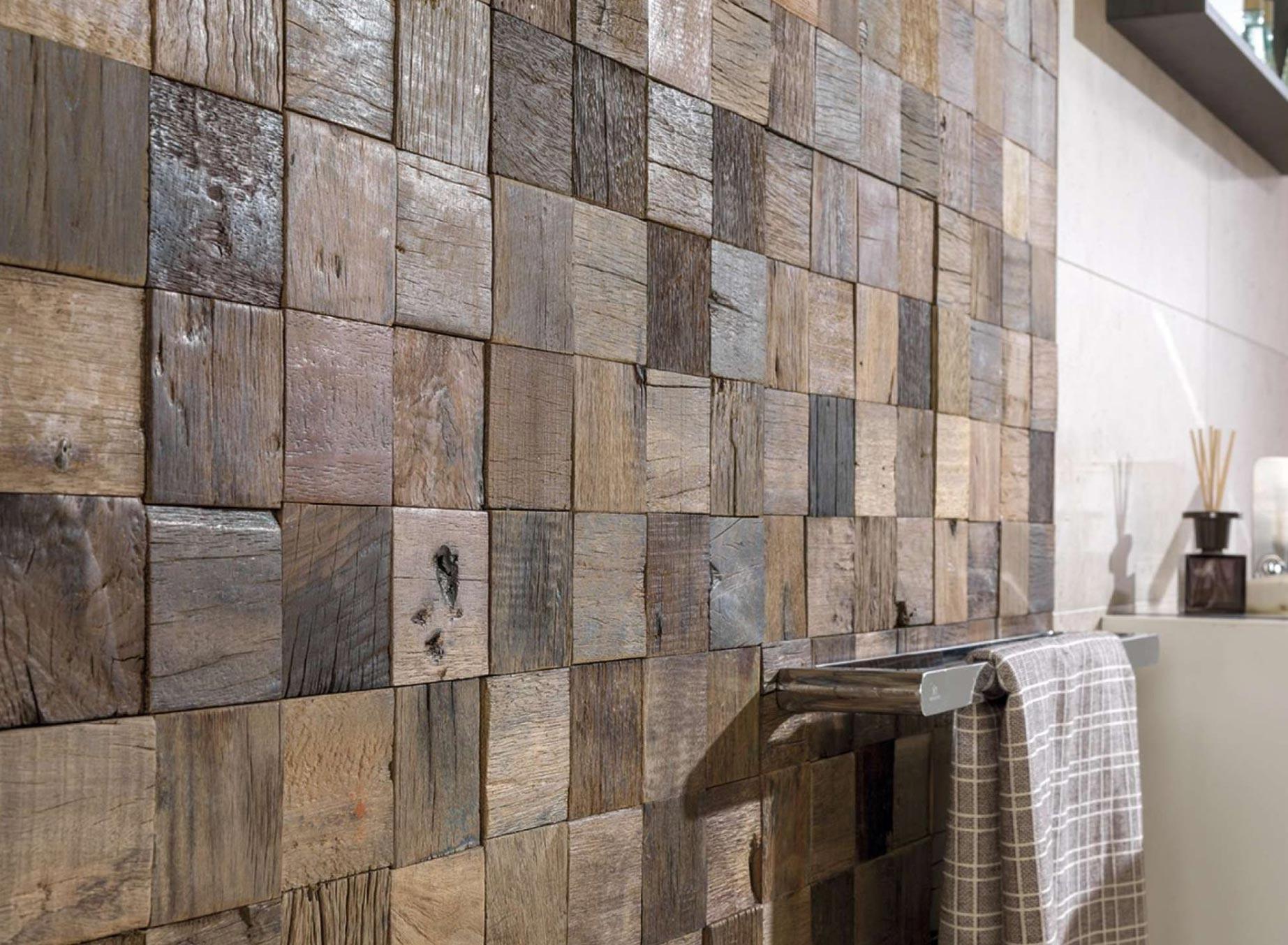деревянная мозаика для ванной