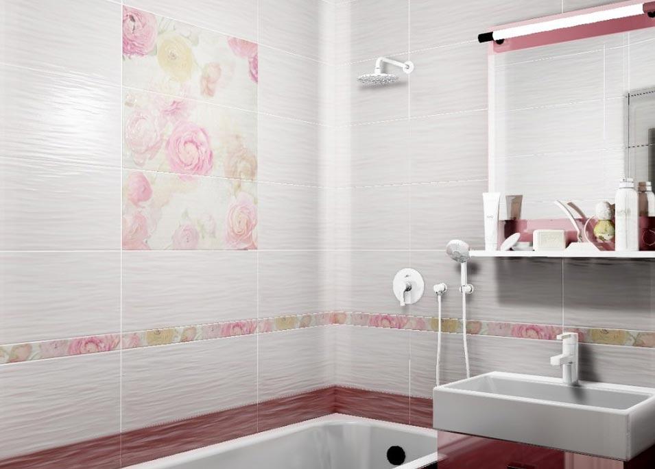 дизайн плитки в маленькой ванной 6