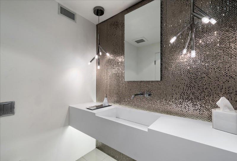 дизайн плитки в ванной в современном стиле