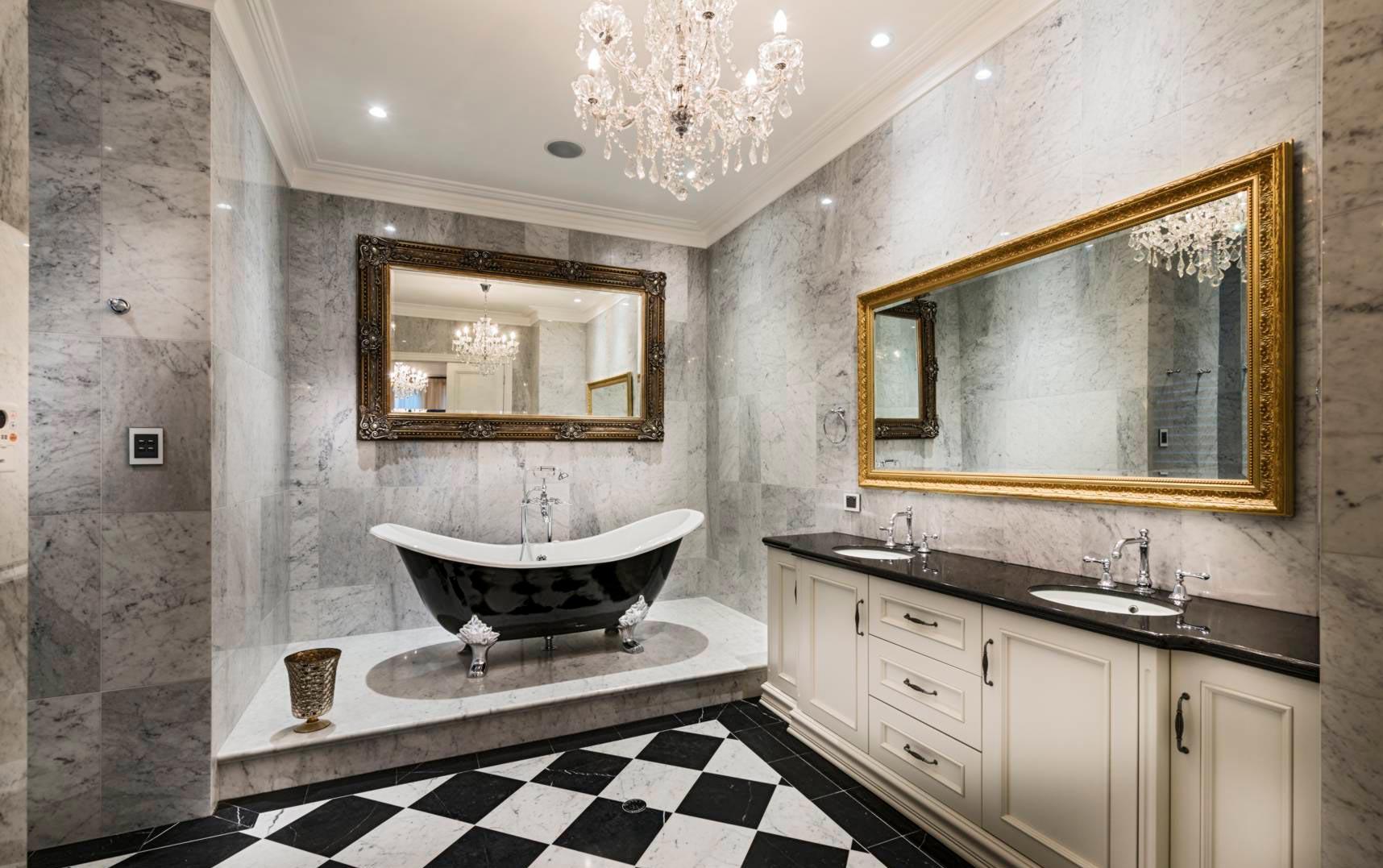 Дизайн ванной комнаты, выполненной из мрамора 2