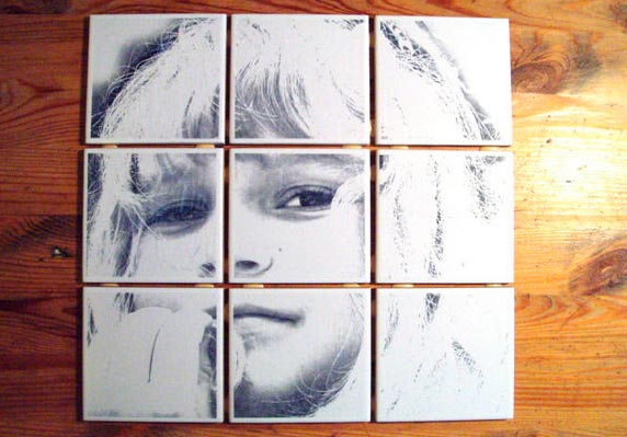 Нанесение рисунка на плитке