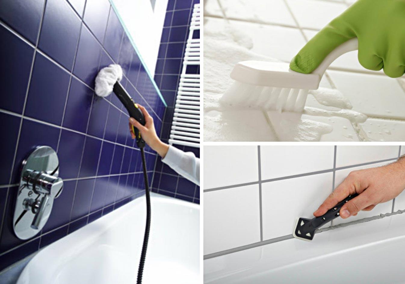 как отмыть плитку в ванной способы