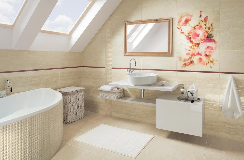 керамическая плитка для ванной- дизайн
