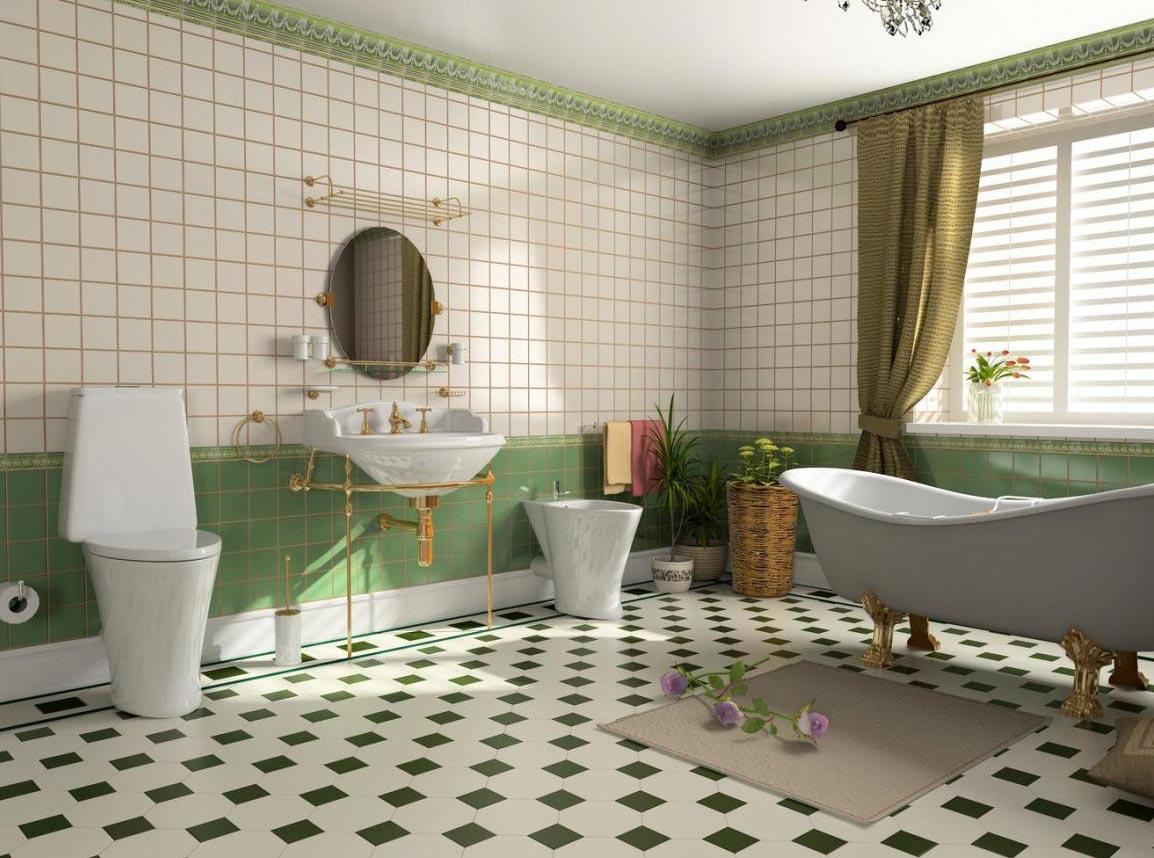 квадратные плиты для ванной