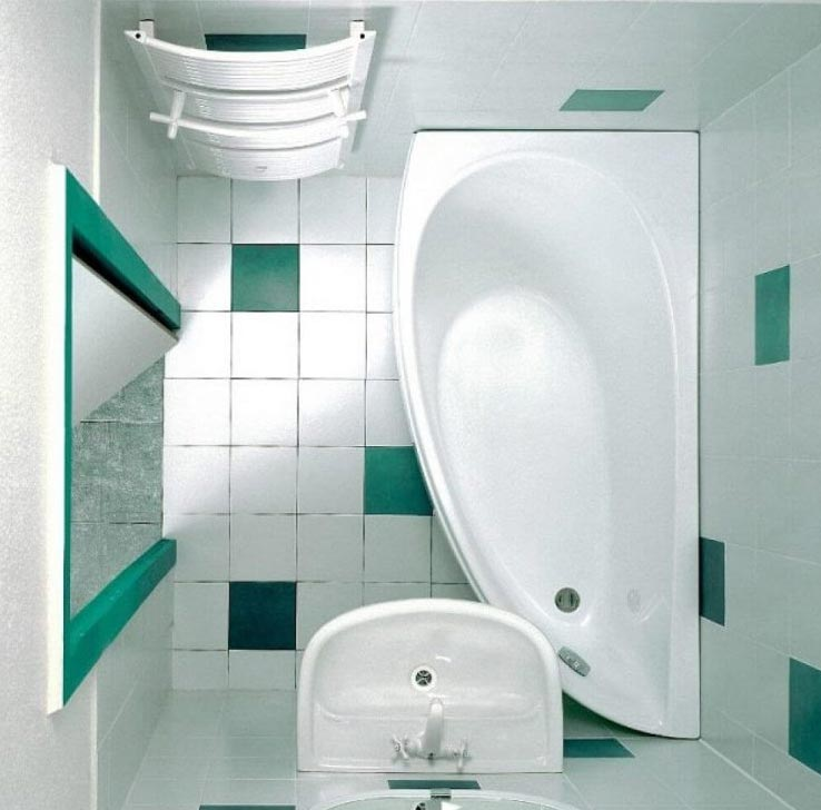 маленькая ванная комната без туалета 2