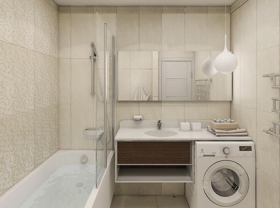 маленькая ванная комната без туалета 3