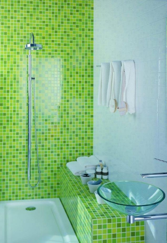 маленькая ванная комната мозаика дизайн