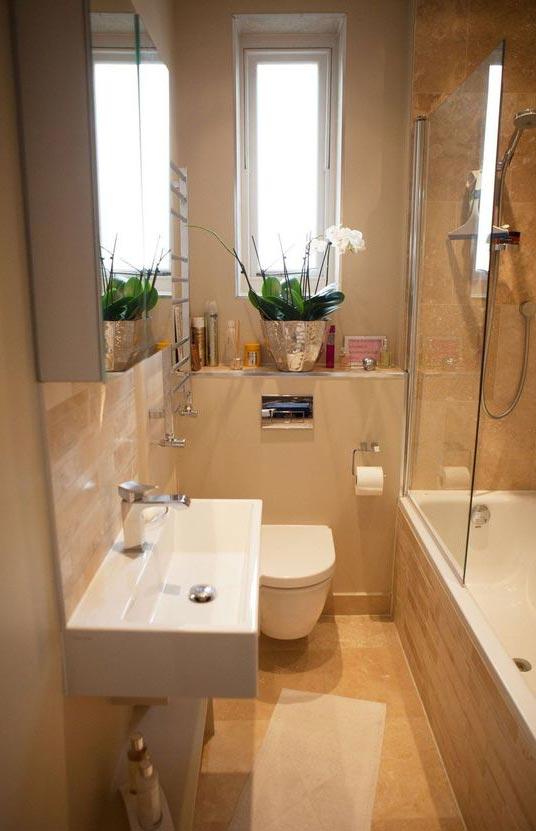 маленькая ванная комната примеры удачных работ