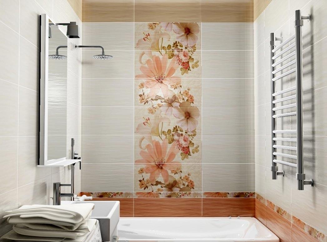 маленькая ванная комната в традиционных цветах