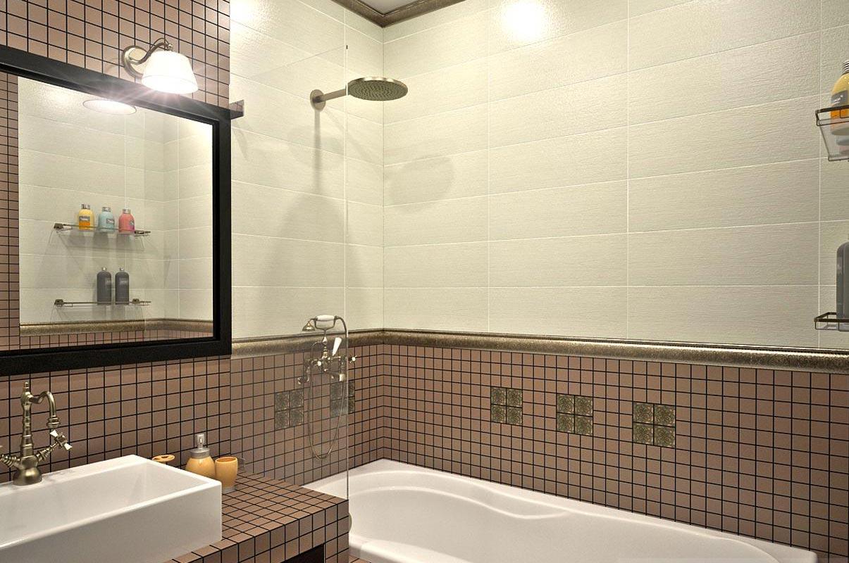 маленькая ванная мозаика
