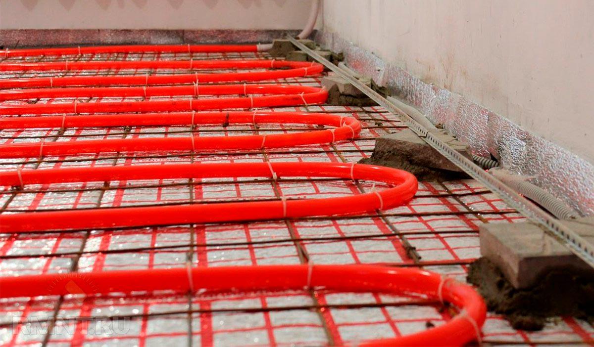 Монтаж теплого водяного пола под плитку