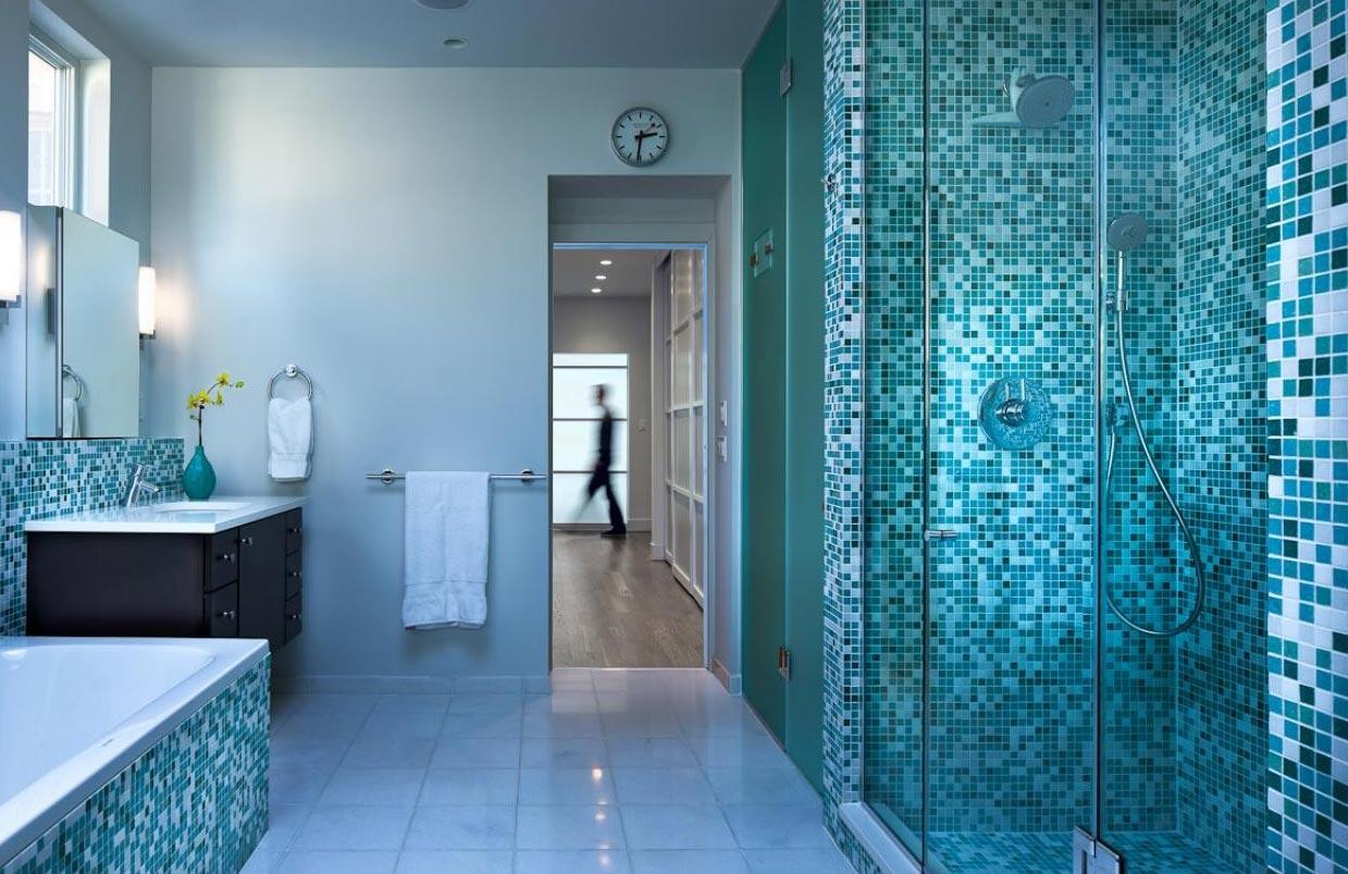 мозаика для ванной интерьер