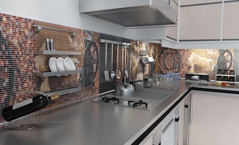 мозаика на кухне дизайн