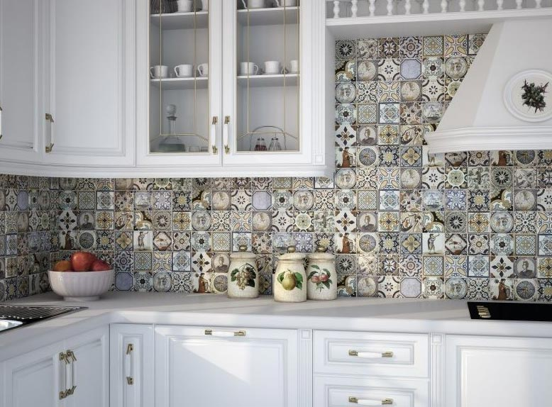 мозаика на кухне-стиль прованс