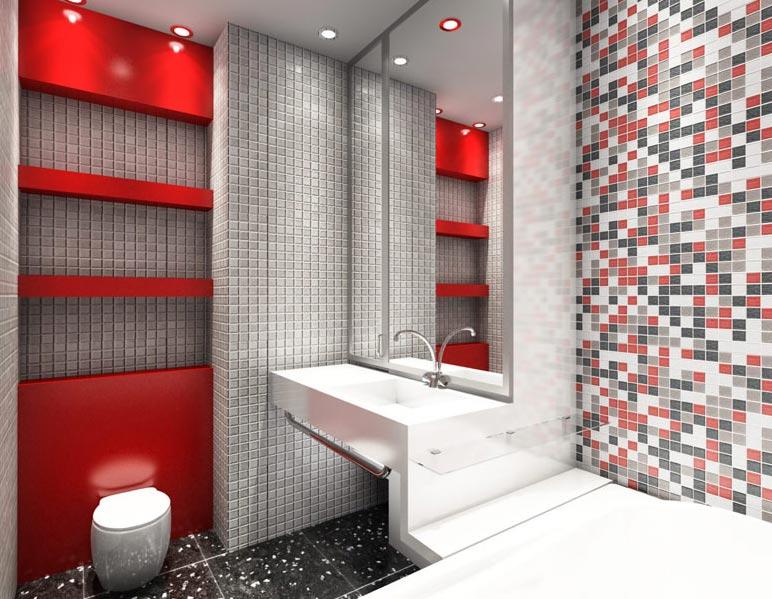 мозаика в ванной-дизайн