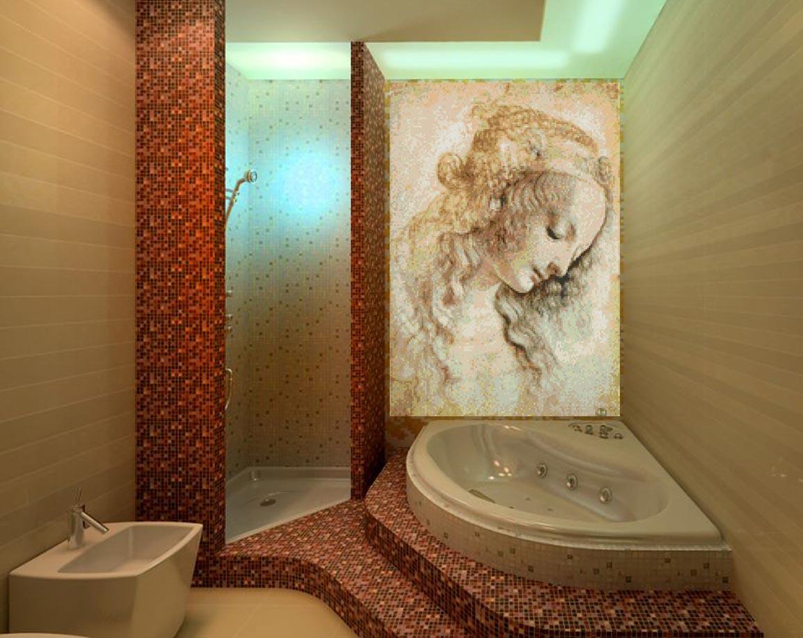 мозаика в ванной-интересные варианты