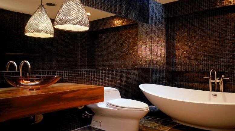 мозаика в ванной-интересные решения