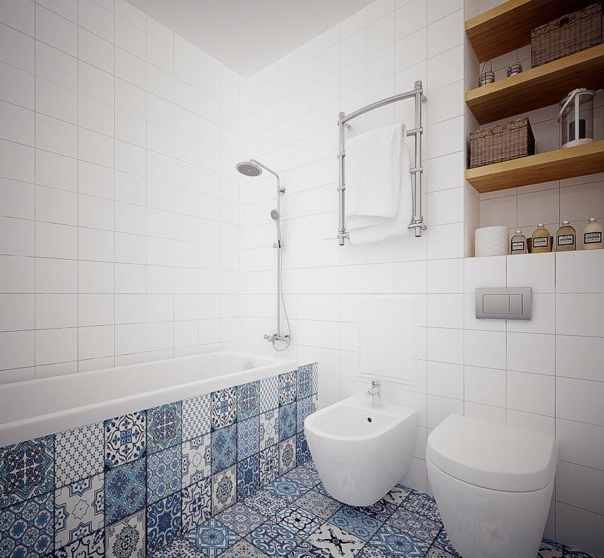 плитка для ванной испания в скандинавском стиле