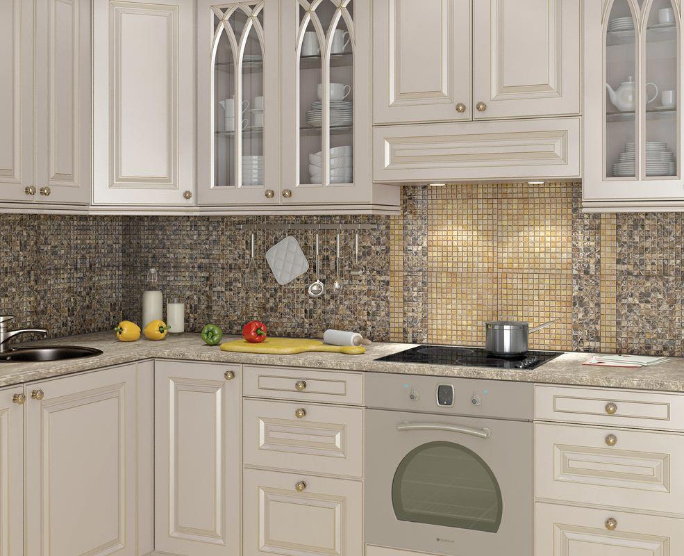 плитка мозаика кухня