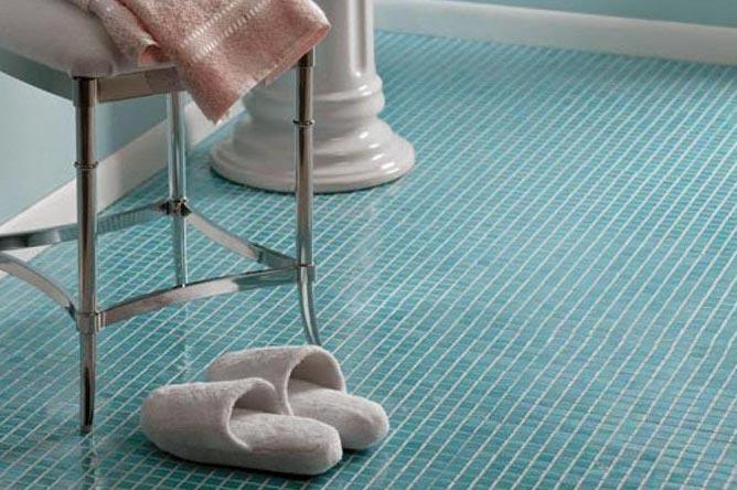 плитка мозаика на пол в ванной комнате