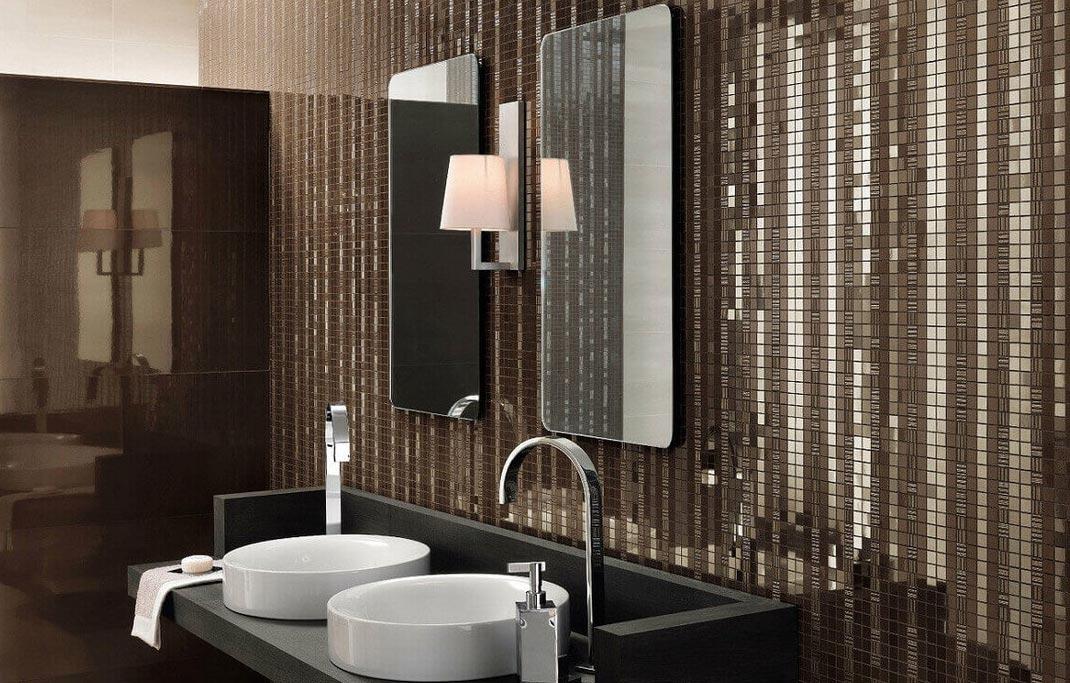 мозаика в ванной интерьер
