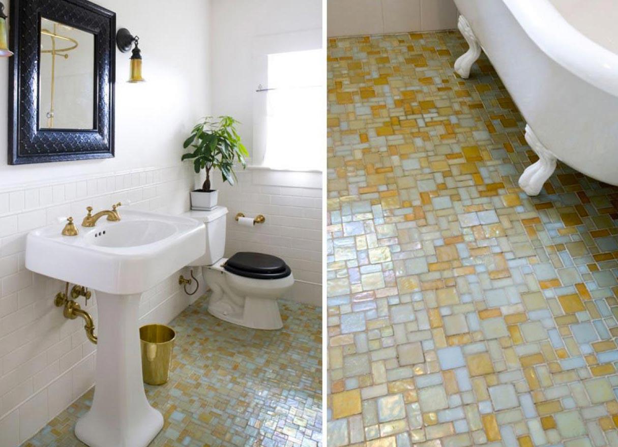 плитка на пол в ванной мозаика дизайн