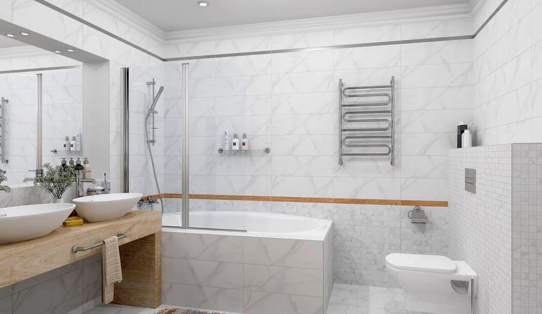 Плитки под мрамор для ванной 2